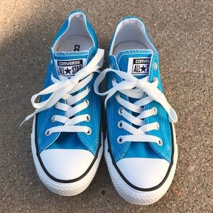 Unisex Converse All Stars turquoise and white